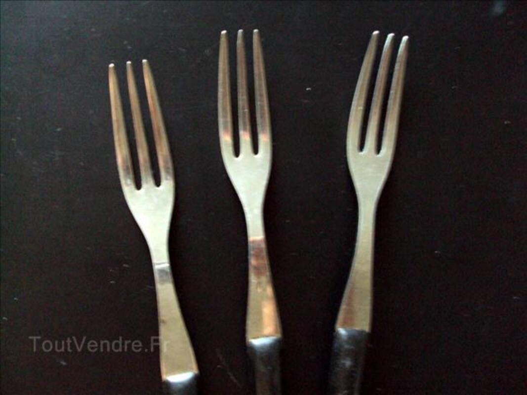 Lot 3 fourchettes à fondue en inox 72299216