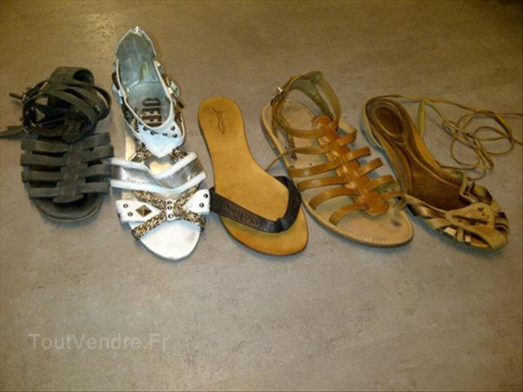LOT 5 paires de sandales T.40/41 56059516
