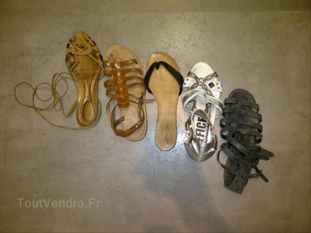 LOT 5 paires de sandales T.40/41 56059517
