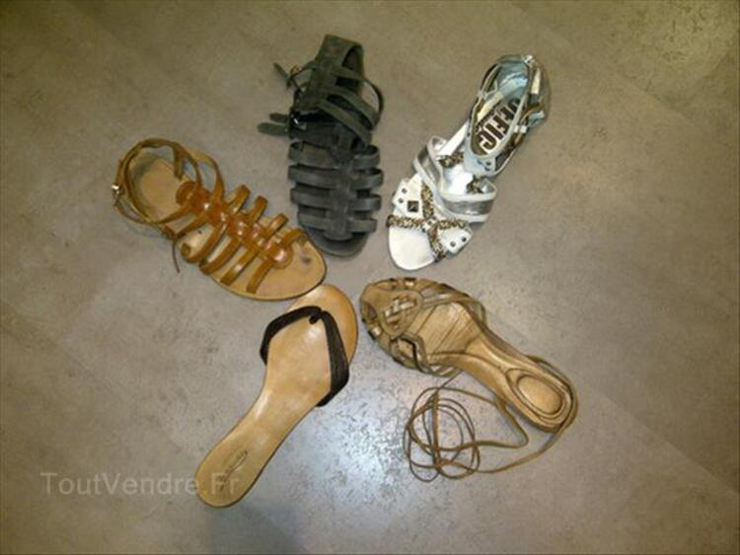 LOT 5 paires de sandales T.40/41 56059518