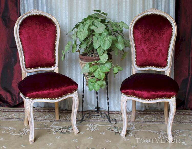 LOT 6 CHAISES CABRIOLET STYLE LOUIS XV 113197808