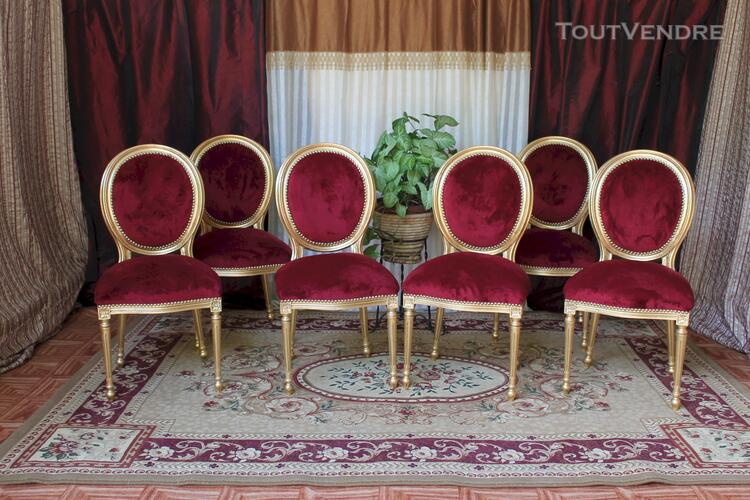 LOT 6 CHAISES MEDAILLON STYLE LOUIS XVI 113197802