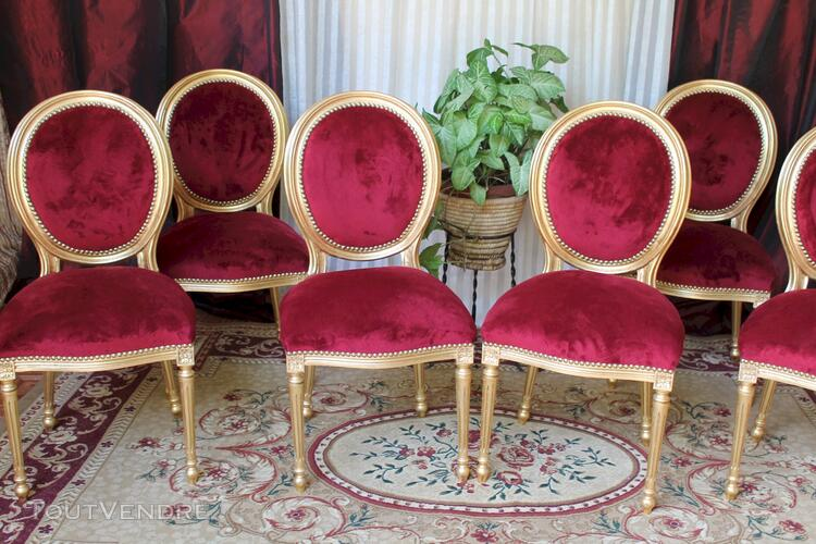 LOT 6 CHAISES MEDAILLON STYLE LOUIS XVI 113197806