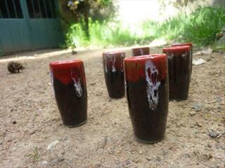 Lot 6 verres à liqueur style art déco
