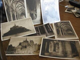 Lot 8 cartes postales anciennes sur Le Mont St Michel
