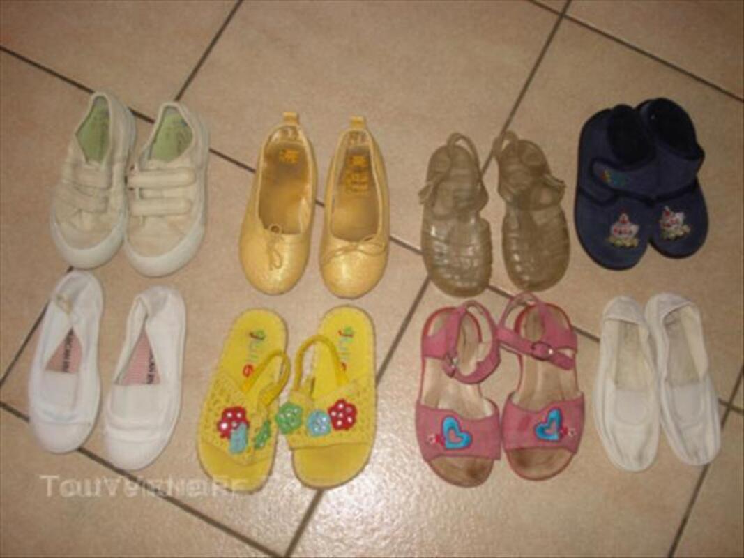 Lot 8 paires de chaussures 26: sandales méduses etc 44991913