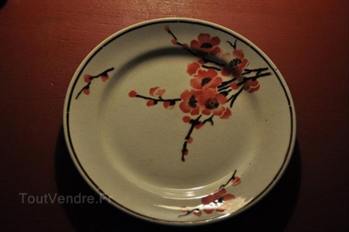Lot assiettes porcelaine Terre de Fer St Amand 87354158