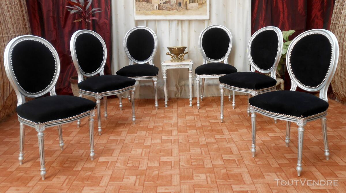 Lot Chaises Médaillon de STyle Louis XVI - BAROQUE 120692206