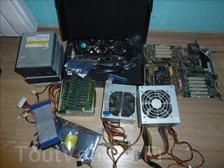 Lot composants informatique, cartes graphique carte mère