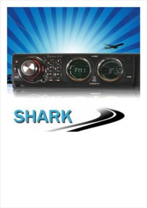 LOT DE 1 AUTORADIO SHARK + 1 PAIRE D'ENCEINTES 56338951