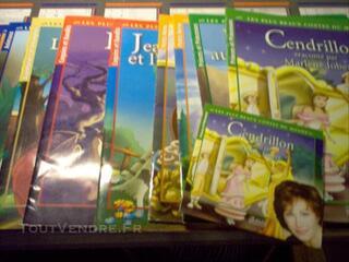Lot de 10 livres + cd raconté p Marlène Jobert Cendri