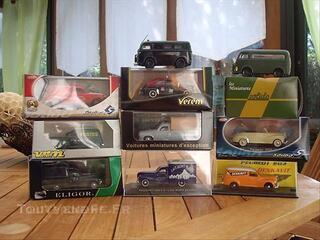 Lot de  10 miniatures Peugeot 203/403/DA 1/43