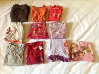 Lot de 10 t-shirts fille manches longues taille 5 ans