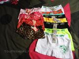 Lot de 12 boxers enfant