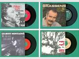 LOT DE 17 DISQUES VINYLES 45 TOURS