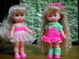 LOT DE 2 POUPEES MINI MISS MAKE UP DE MATTEL