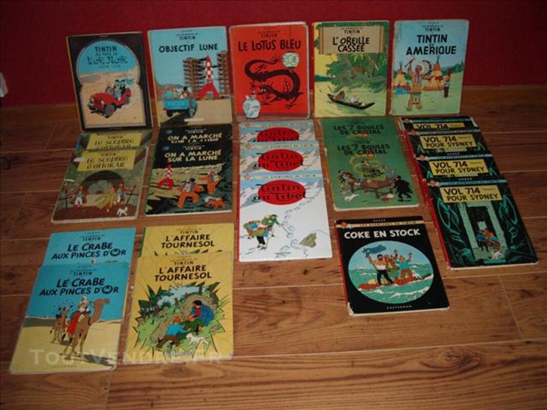 Lot de 23 Tintin 74026962