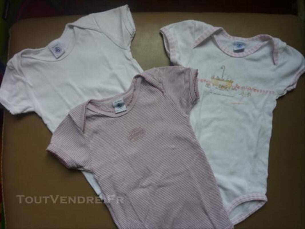 Lot de 3 bodies fille PETIT BATEAU (36 mois) 82332061