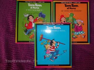 Lot de 3 livres Tom tom et Nana