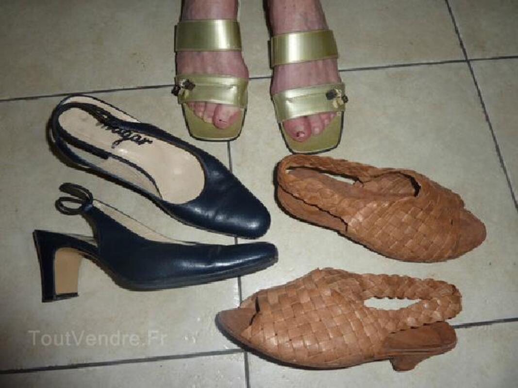 Lot de 3 paires chaussures été -F–P 35 – TBE 91875550