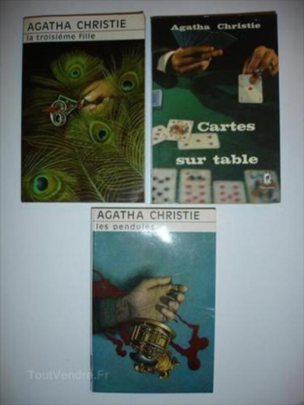 Lot de 3 romans d'Agatha Christie excellent état 55990656