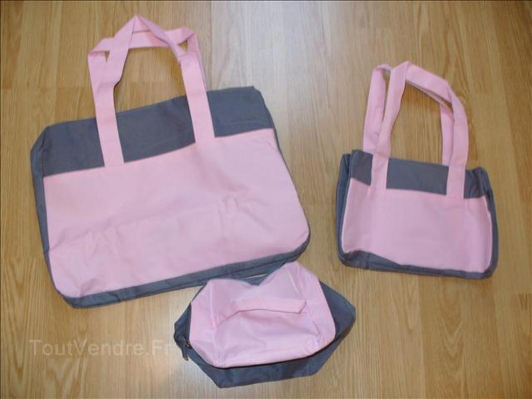 Lot de 3 sacs rose et gris 61848692
