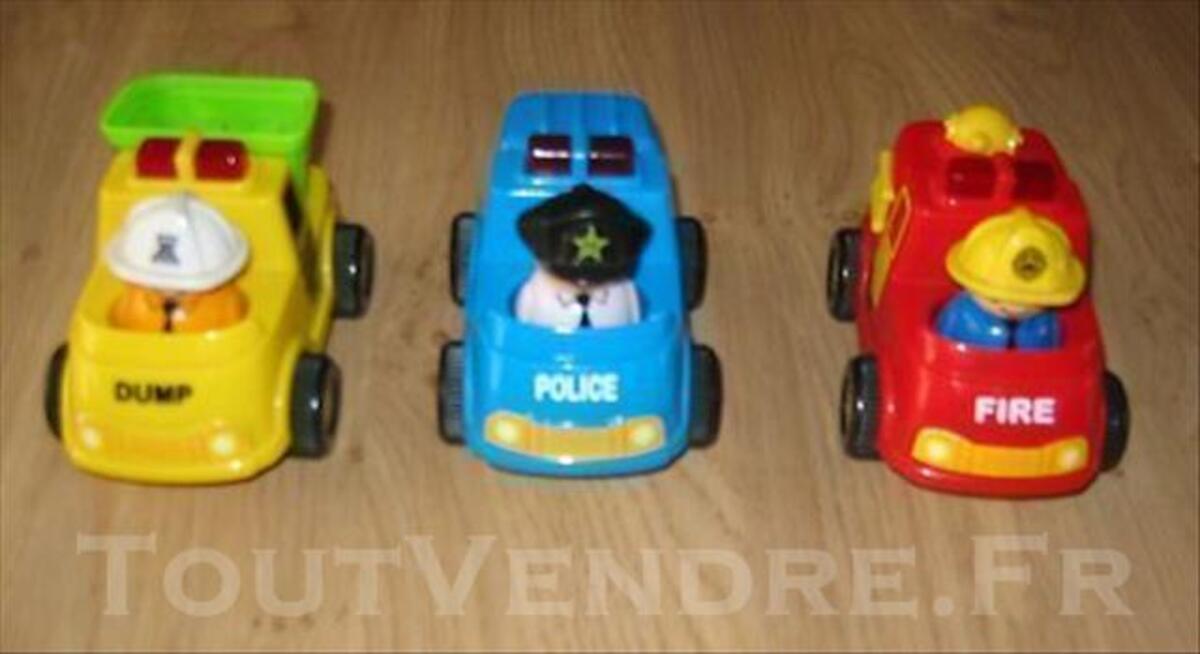 Lot de 3 véhicules lumineux et sonores 77535890