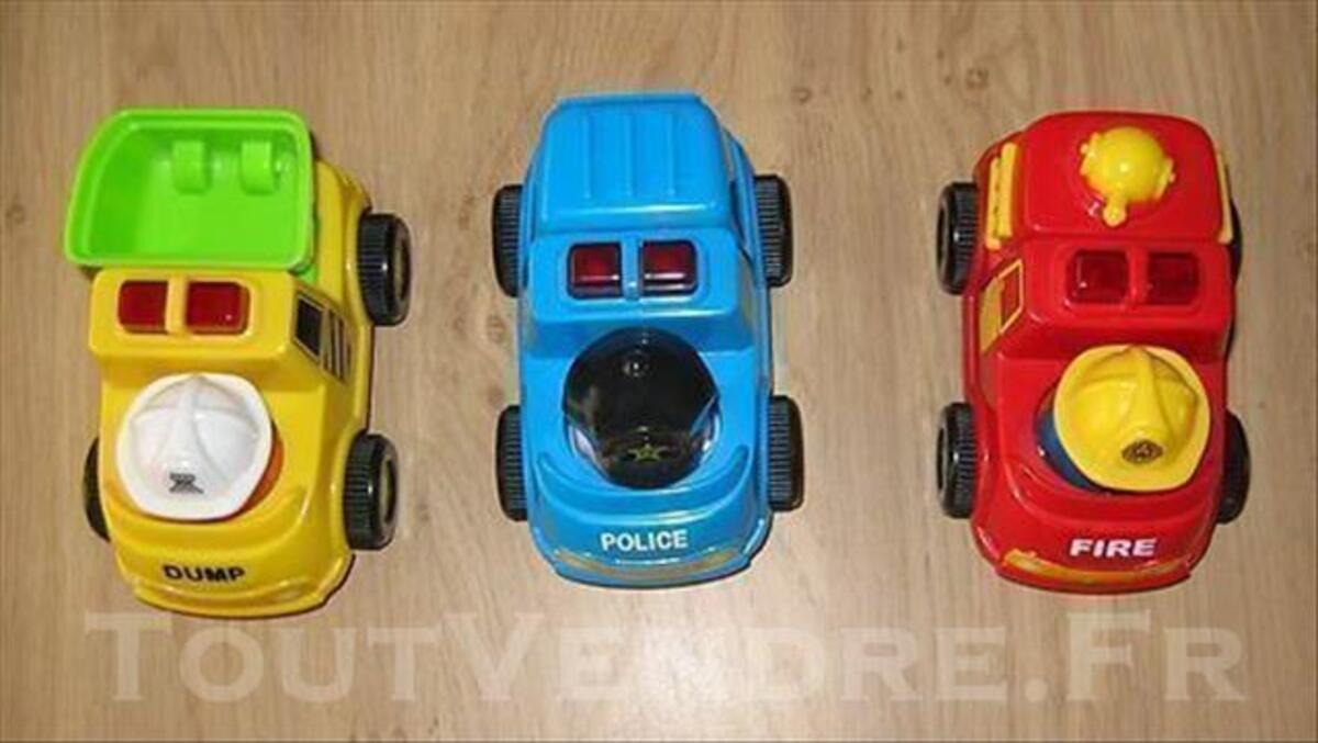 Lot de 3 véhicules lumineux et sonores 77535891
