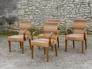 Lot de 4 fauteuils bridge année 50' loft déco vintage
