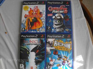 Lot de 4 jeux PS2