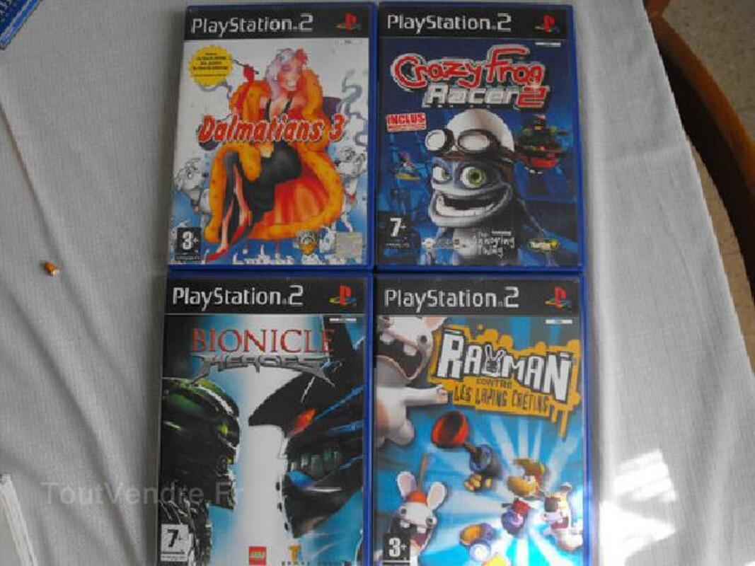 Lot de 4 jeux PS2 92182604