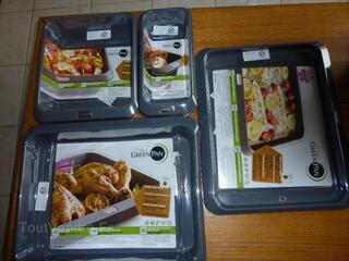 Lot de 4 plats cuisson au four greenpan neuf