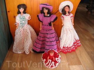 Lot de 4 poupées mannequins anciennes