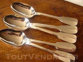 Lot de 5 cuillères à potage en métal argenté