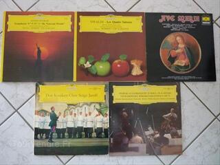 Lot de 5 disques 33 tours deutsche grammophon classique