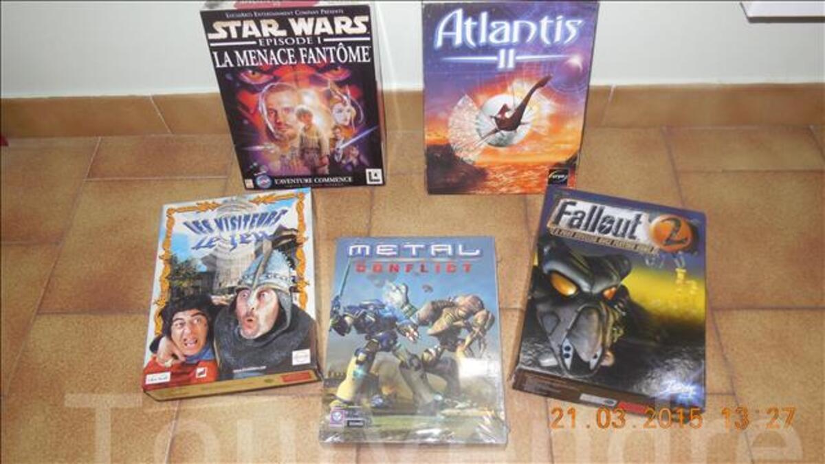 Lot de 5 jeux pour pc 104271685