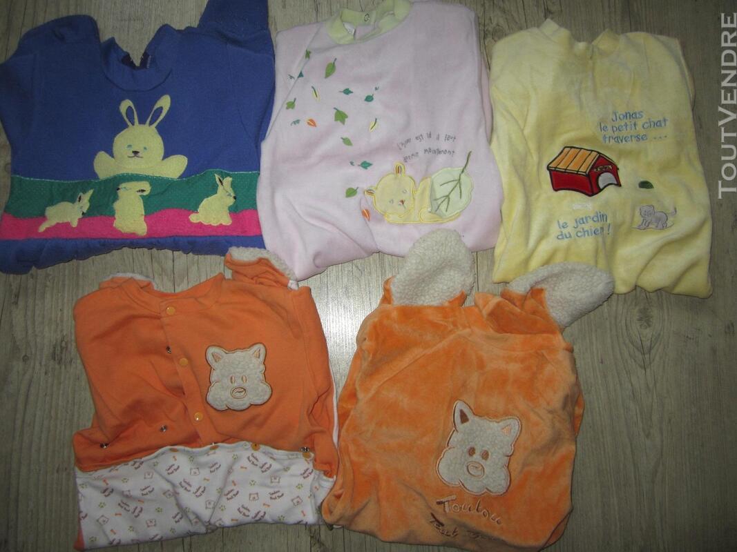 Lot de 5 pyjamas + 2 pantalons taille 12 mois / 1 an 293673094