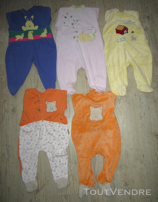 Lot de 5 pyjamas + 2 pantalons taille 12 mois / 1 an 293673100
