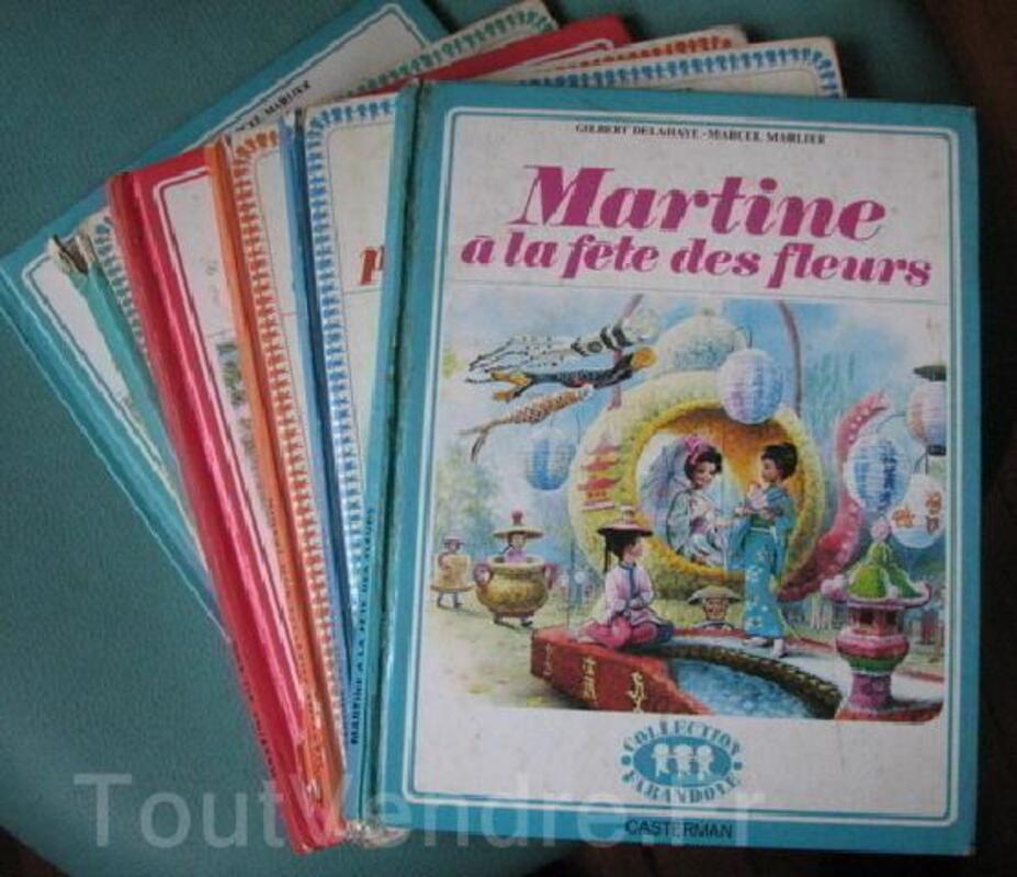 "LOT DE 6 ANCIENS LIVRES ""MARTINE"" 1970/76 COL FARANDOLE 92484271"
