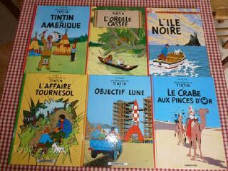 Lot de 6 BD neuves Tintin