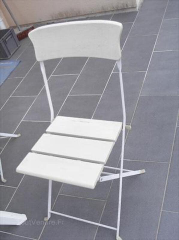 Lot de 6 chaises de jardin bois et métal pliante 56352709