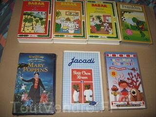 Lot de 7 cassettes enfant