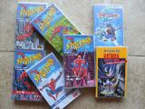 Lot de 7 cassettes vidéo SPIDERMAN/BATMAN/BEYBLED