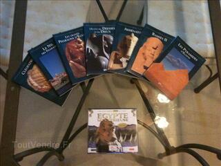 Lot de 7 livres+3 CD-ROM PC sur l'Egypte