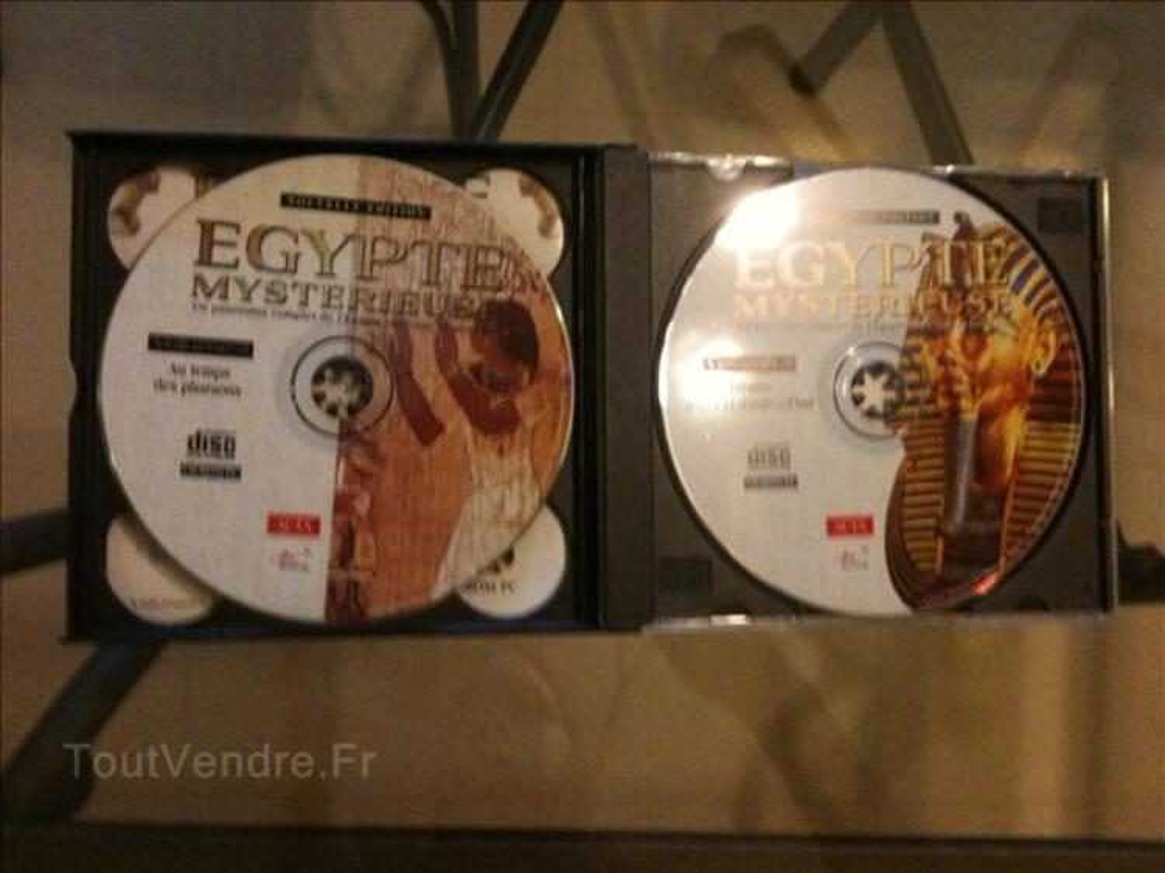 Lot de 7 livres+3 CD-ROM PC sur l'Egypte 69771628