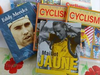 LOT DE 8 LIVRES ENCYCLOPEDIQUES CYCLISME