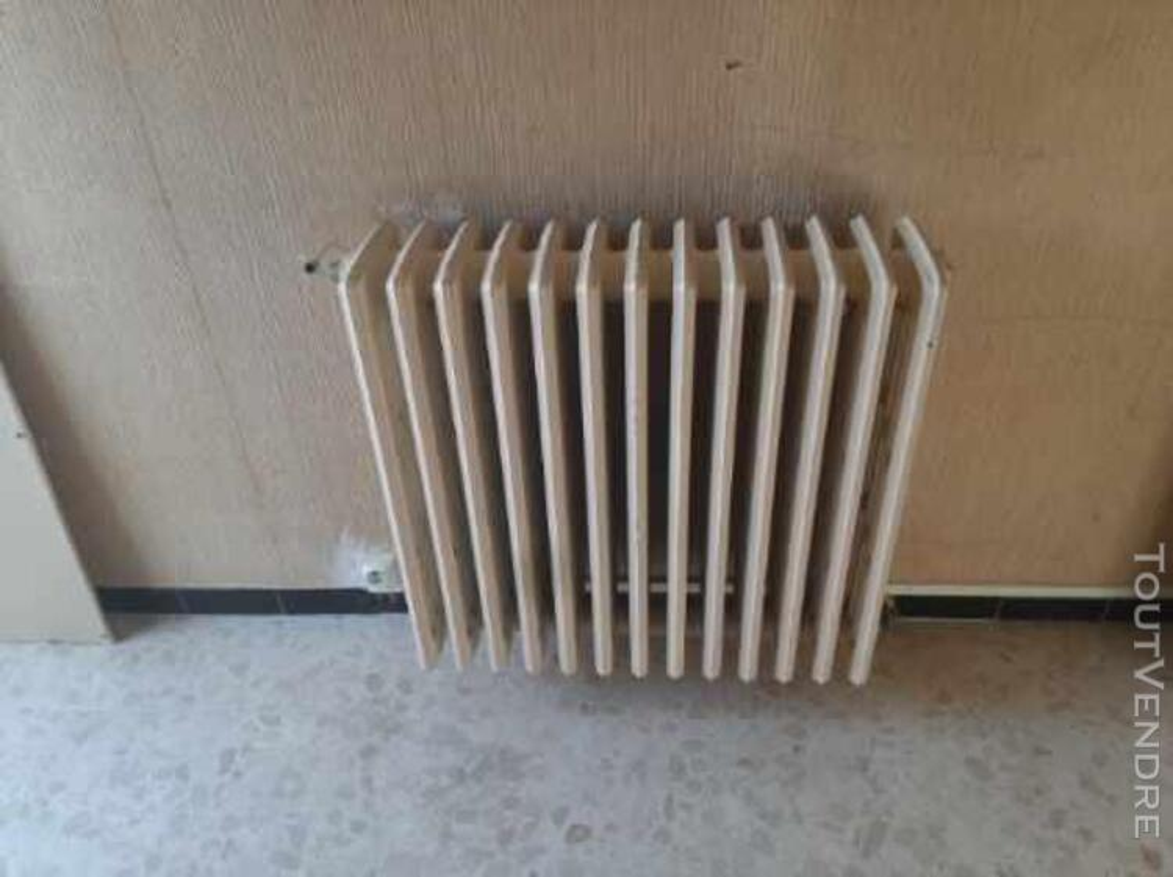 Lot de 8 radiateurs en fonte