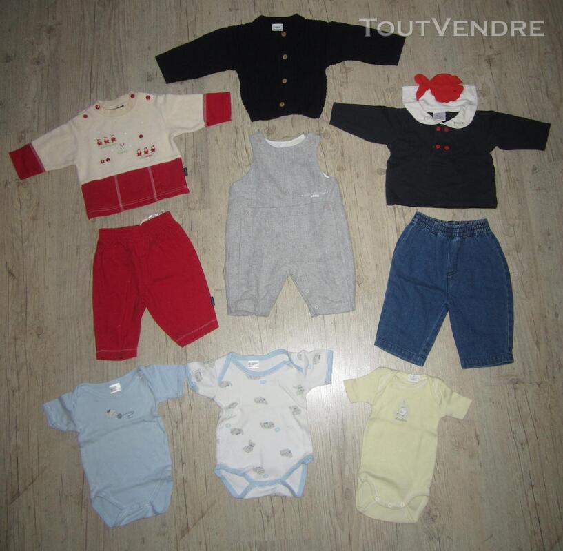 Lot de 9 vêtements mixtes en taille 3 mois 293667986