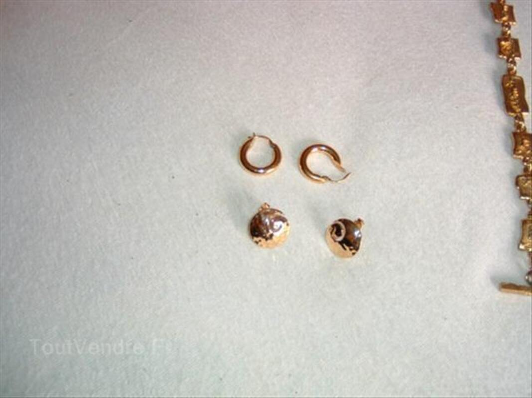 Lot de boucles d'oreilles plaqué or 12€ 87595258