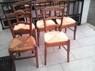 Lot de chaises campagnarde